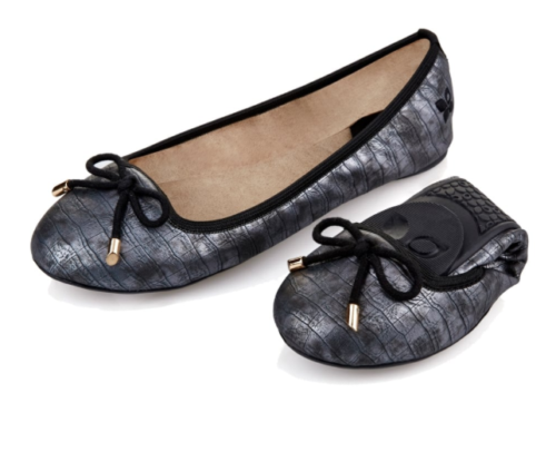dd08717d18bfbd Butterfly Twists Francesca Pewter foldable ballet pump