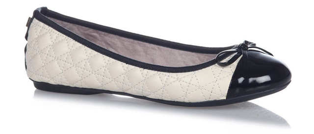 06c8774a9ea Butterfly Twist Olivia cream and black foldable ballet pump - Lovely ...