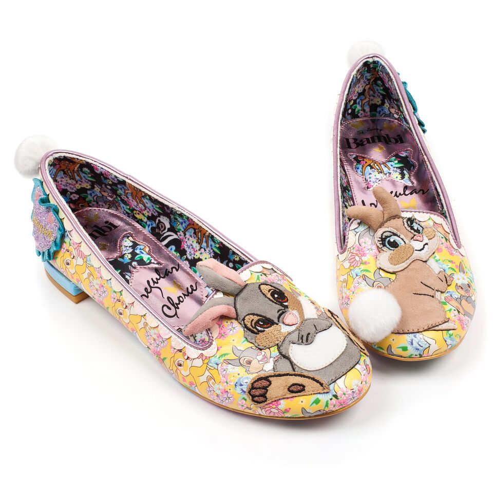 faa234703 Irregular choice Sweet as can be Bambi Disney flat thumper - Lovely Boutique